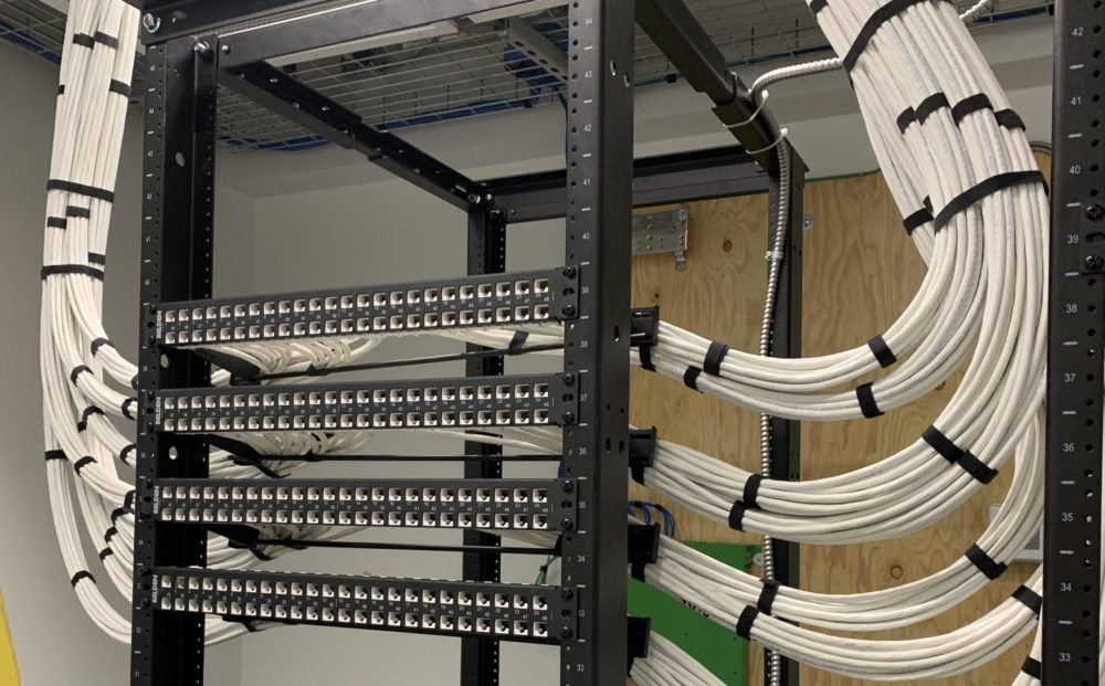 Network cabling solution showing structured cabling