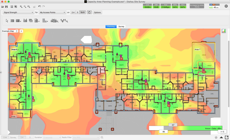 Wi-Fi Heatmap from Ekahau