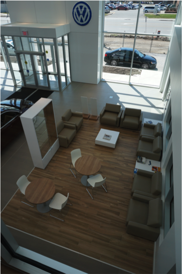 A standard retail customer centre with Wi-Fi installed by CORE Cabling